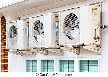 climatiseur, installation, air