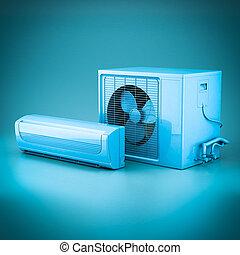 climatiseur, moderne, air