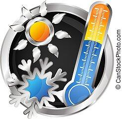 climatiseur, symbole, vecteur, air