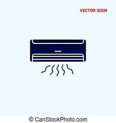climatiseur, vecteur, icône