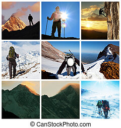 Climb - Extreme climbing collage