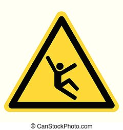 Climb Hazard Symbol Sign, Vector Illustration, Isolate On White Background Label .EPS10