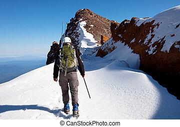 Climb on the Shasta mount, USA