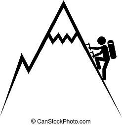 Creative design of climb symbol
