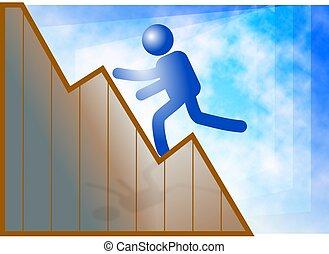Climb to Success - Climbing to success. Concept...