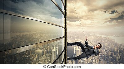 Climb to the success - Concept of Climb to the success with...