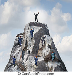 Climb To The Top - Climb to the top career business concept...