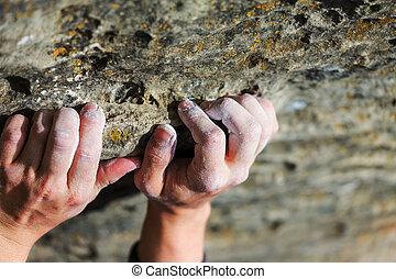 Climber hand - Rock climber's hand