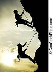 climber montagna