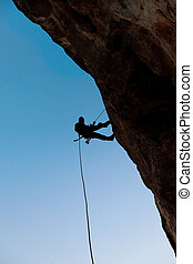 Climber on the rock
