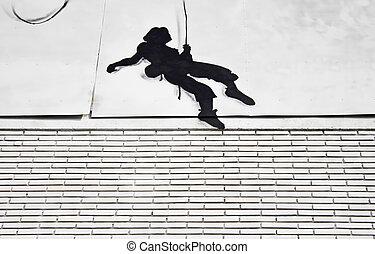 Climber on wall