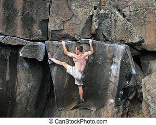 climber stretches