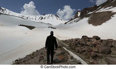 Climber walking