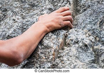 climber's, titolo portafoglio mano, roccia