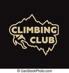Climbing club emblem.