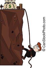Climbing for money