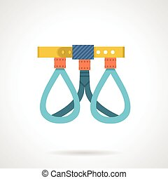 Climbing harness colored vector ico - Climbing belay harness...