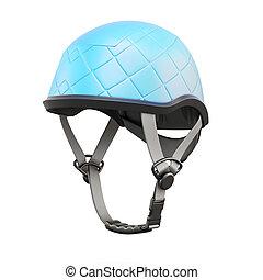 Climbing helmet on white background. 3d rendering