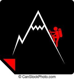 climbing icon design