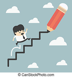 climbing ladder of success