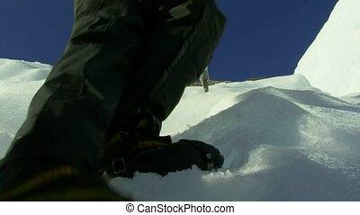 Climbing on Fox Glacier.