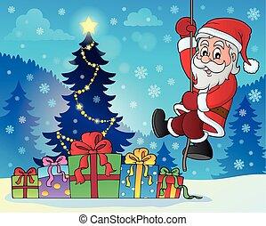Climbing Santa Claus theme image 7 - eps10 vector...