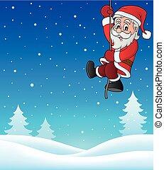 Climbing Santa Claus topic image 1