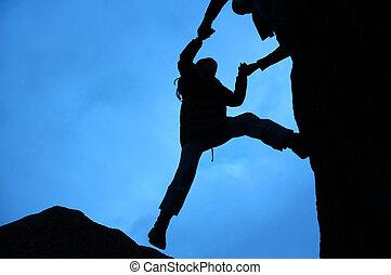 Climbing Silhouette - Rock climbing silhouette, gets a...
