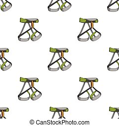 Climbing strapping, insurance.Mountaineering single icon in...
