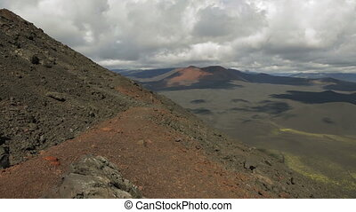 Climbing to northern break Great Tolbachik Fissure Eruption....