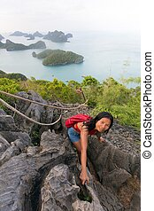 Climbing to the viewpoint