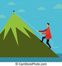 Climbing up - business concept