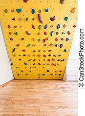 Climbing wall in kids room