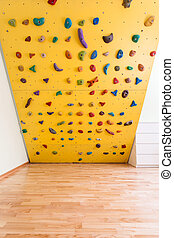 Climbing wall in kids room