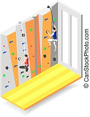 Climbing Wall Isometric Design Concept