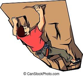 climbing wall Vector illustration