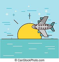clime travel illustration icon vector design graphic