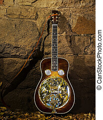 Clinesmith Dobro Guitar and Autumn Leaves