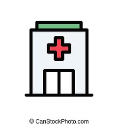clinic flat color icon