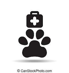 clinic veterinary symbol icon