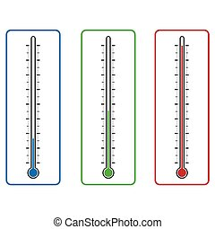 clinical thermometer vector isolated on white background