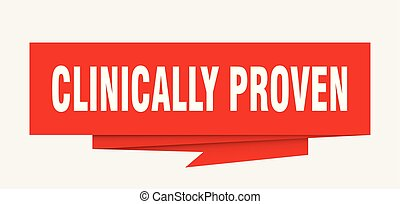 clinically proven sign. clinically proven paper origami...