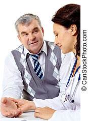 Clinician and patient