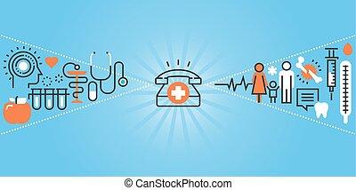 clinique, hôpital, installations