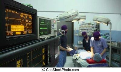 clinique, opération, salle