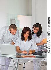 clinique, réception, privé
