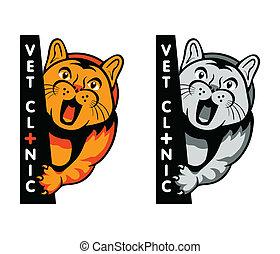 clinique, symbole, vétérinaire