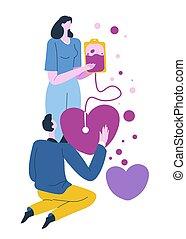 cliniques, donateur, transfusion, sanguine, infirmière, ...