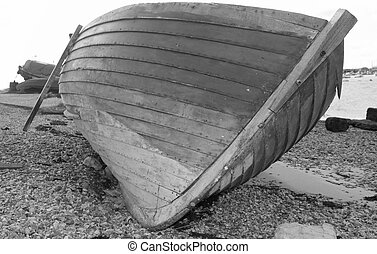 Clinker built - An old clinker built wooden boat