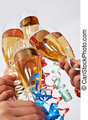 Clinking champagnes